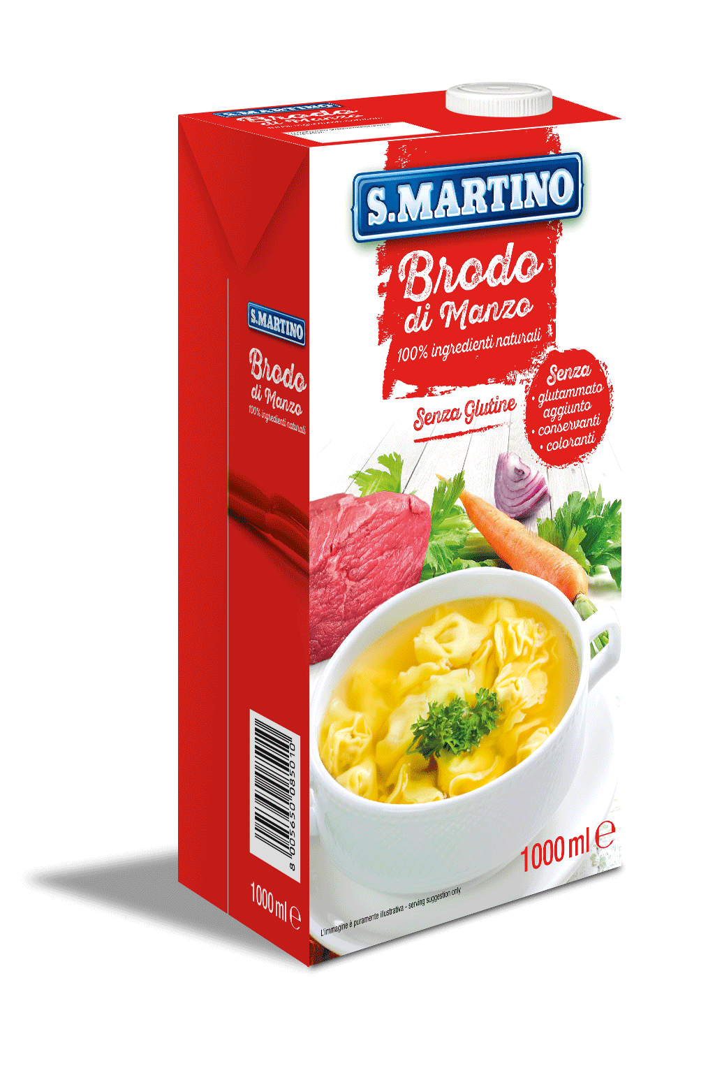 Liquid Beef broth without glutamate and gluten free 1 liter
