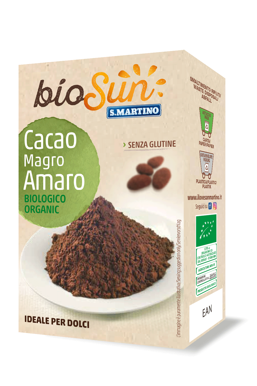 Organic Bitter Cocoa powder gluten free and vegan 75g